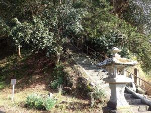 伊豆稲梓の米山薬師の階段