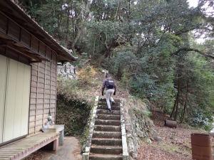 米山薬師の奥の院への階段