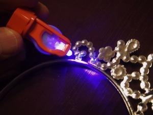 LEDライト照射